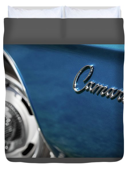 1969 Chevrolet Camaro Z28 Emblem Duvet Cover