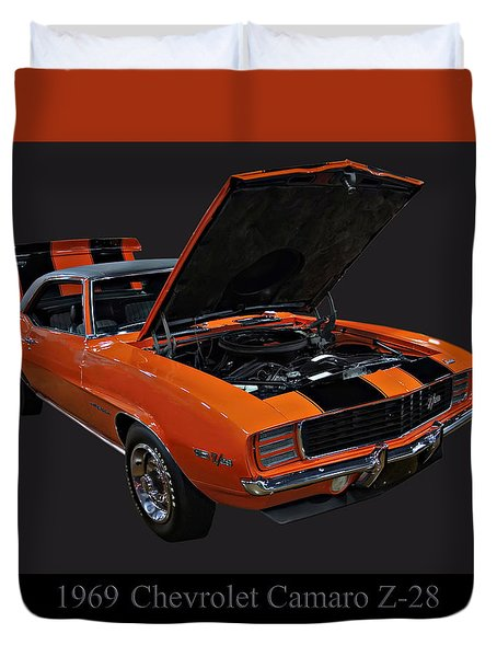 1969 Chevy Camaro Z28 Duvet Cover by Chris Flees