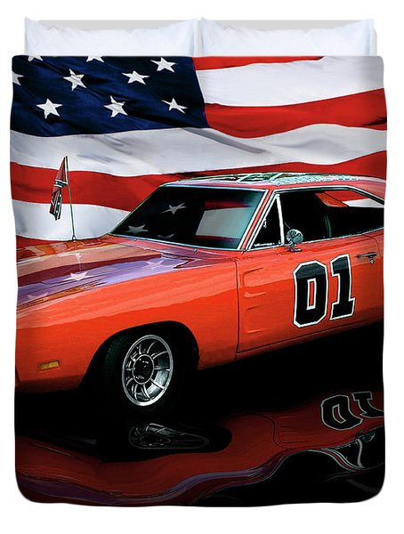 Duvet Cover featuring the photograph 1969 General Lee by Peter Piatt