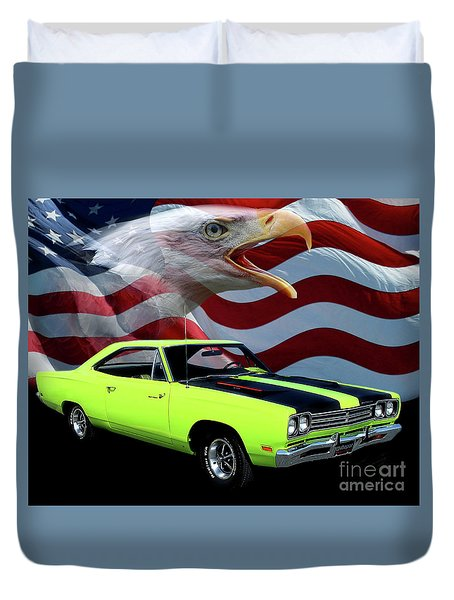 1969 Plymouth Road Runner Tribute Duvet Cover