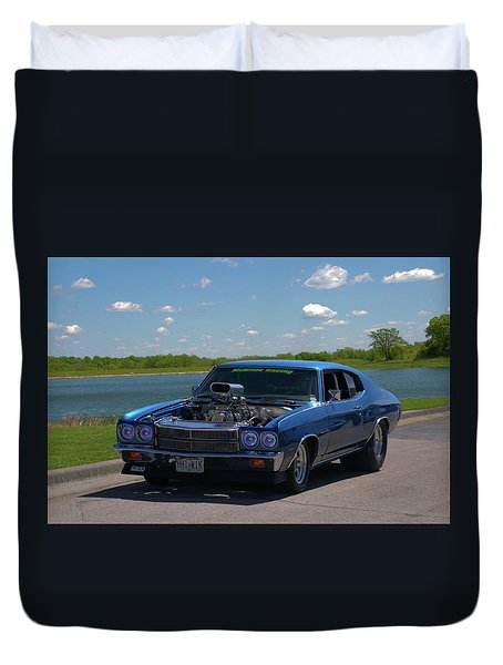 1970 Chevelle Pro Street Dragster Duvet Cover by Tim McCullough