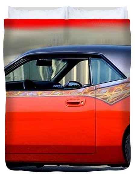 1970 Dodge Challenger Srt Duvet Cover by Maria Urso