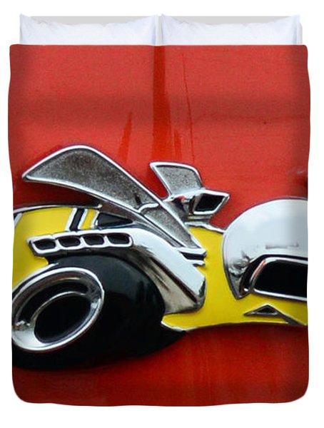 1970 Dodge Super Bee Emblem Duvet Cover by Paul Ward