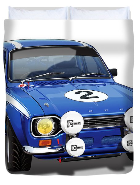 1970 Ford Escort Mexico Illustration Duvet Cover