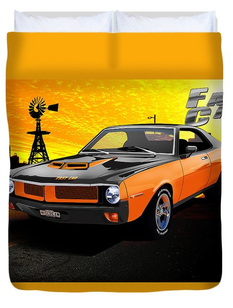 1970 Javelin Duvet Cover