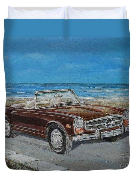 1970 Mercedes Benz 280 Sl Pagoda Duvet Cover