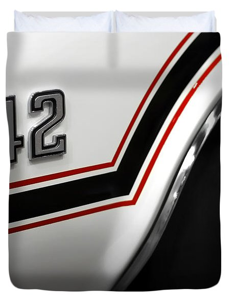 1970 Olds 442 Indy 500 Pace Car Duvet Cover by Gordon Dean II