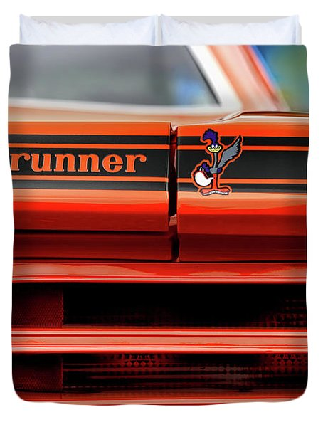 1970 Plymouth Road Runner - Vitamin C Orange Duvet Cover
