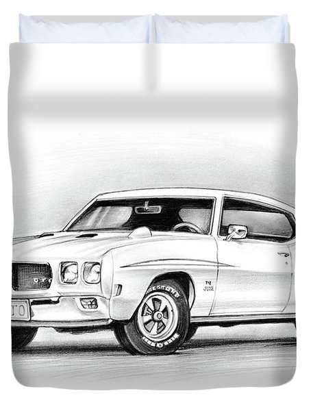1970 Pontiac Gto Judge Duvet Cover