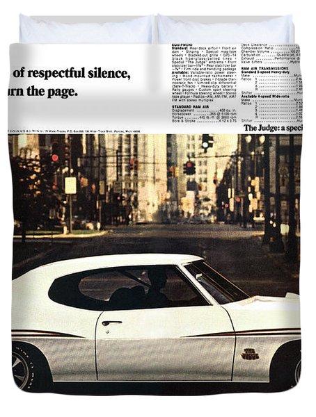 1970 Pontiac Gto The Judge  Duvet Cover by Digital Repro Depot