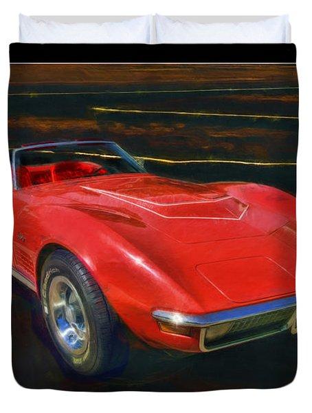 1971 Chevy Corvette Lt1 Duvet Cover by Blake Richards