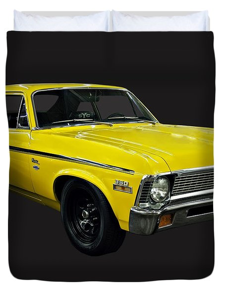 1971 Chevy Nova Yenko Deuce Duvet Cover by Chris Flees