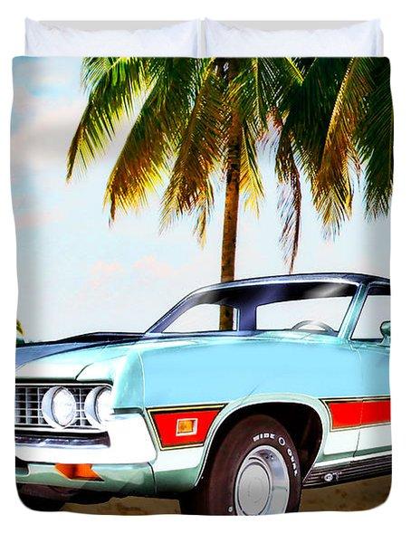 1971 Ford Ranchero At Three Palms - 5th Generation Of Ranchero Duvet Cover