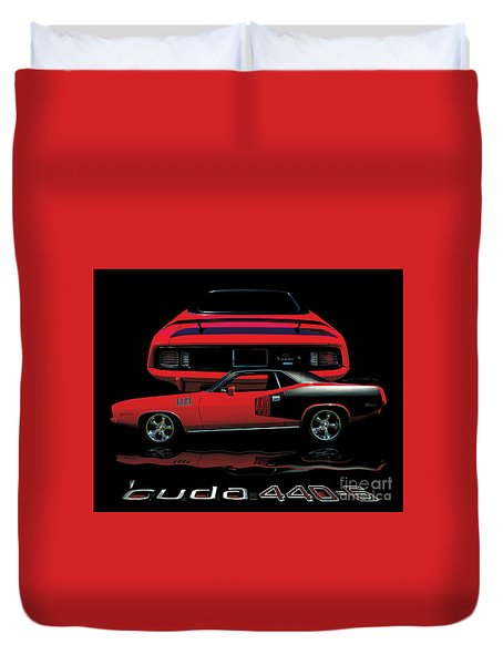 1971 Plymouth Cuda 440 Six Pack    Duvet Cover