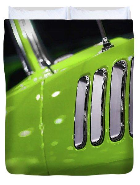 1971 Plymouth 'cuda Fender Gills Duvet Cover by Gordon Dean II