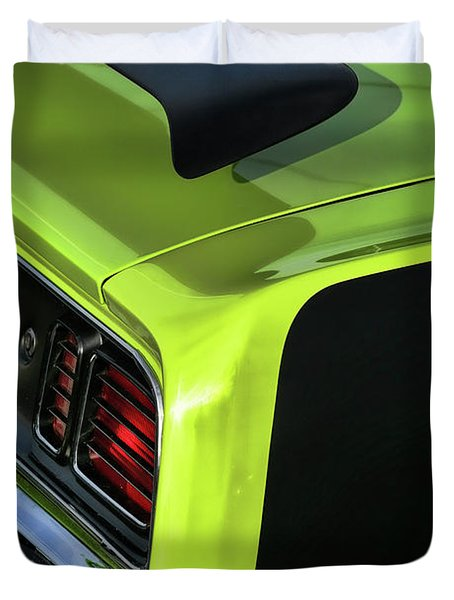 1971 Plymouth Hemicuda Hemi Cuda Barracuda Duvet Cover by Gordon Dean II