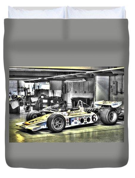 Bobby Unser 1972 Olsonite Eagle Pole Position Car  Duvet Cover