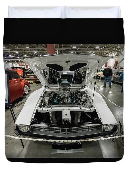 Duvet Cover featuring the photograph 1972 Javelin Sst 2 by Randy Scherkenbach