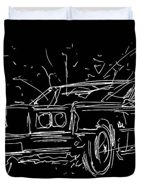 1972 Oldsmobile Toronado Duvet Cover