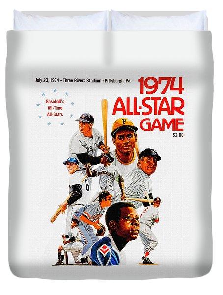 1974 Baseball All Star Game Program Duvet Cover