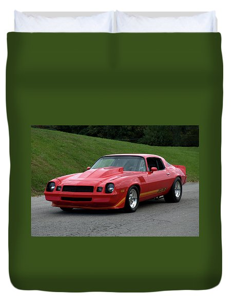 1974 Camaro Z28 Duvet Cover by Tim McCullough