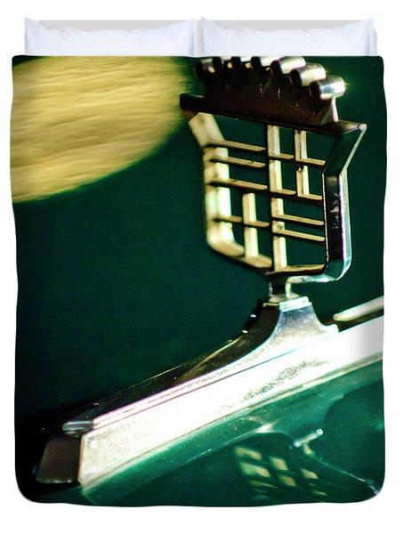 1976 Cadillac Fleetwood Hood Ornament Duvet Cover by Jill Reger
