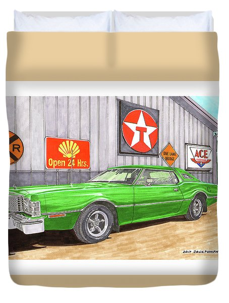 1976 Ford Thunderbird Duvet Cover by Jack Pumphrey