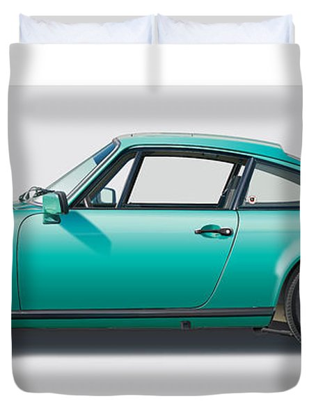 1976 Porsche Euro Carrera 2.7 Illustration Duvet Cover