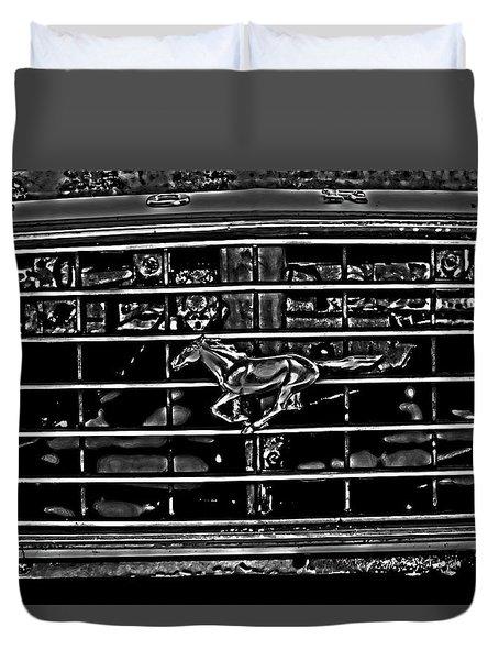 1977 Mustang Grill Duvet Cover
