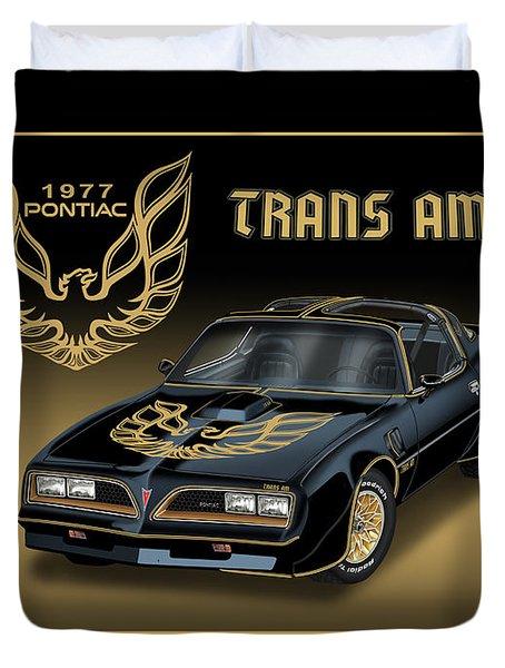 1977 Pontiac Trans Am Bandit Duvet Cover