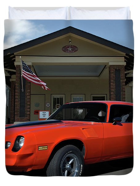 Duvet Cover featuring the photograph 1981 Camaro Z28 by Tim McCullough