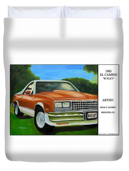 1983 El Camino Poster Duvet Cover