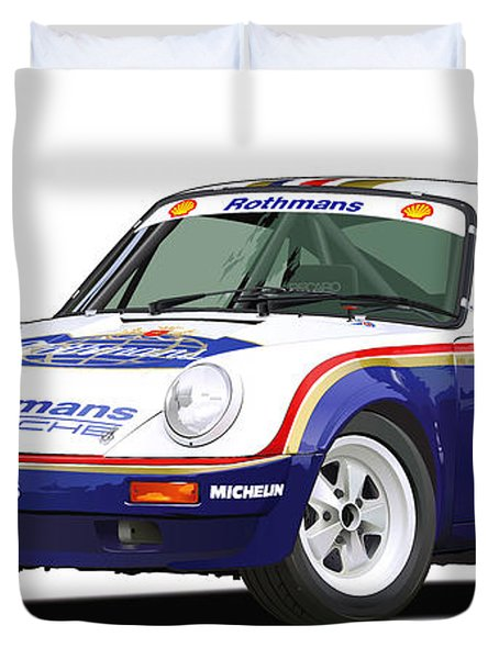 1984 Porsche 911 Sc Rs Illustration Duvet Cover