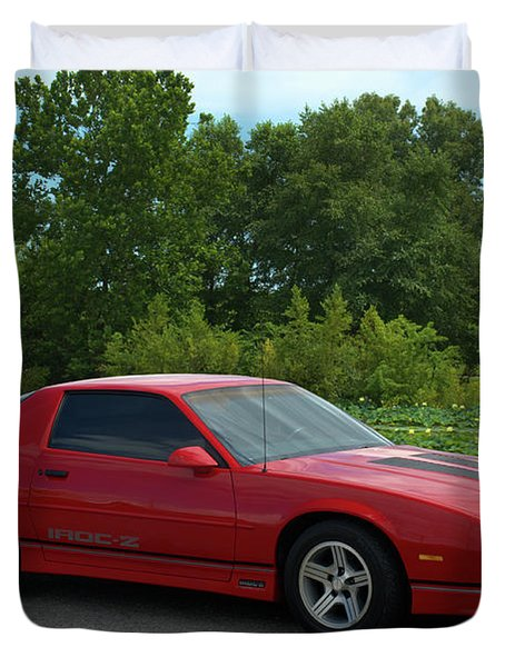 Duvet Cover featuring the photograph 1989 Camaro Iroc by Tim McCullough