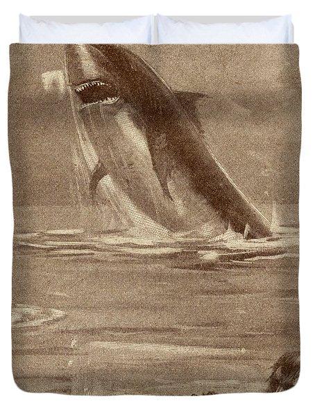 19th Century Illustration Of Man Duvet Cover
