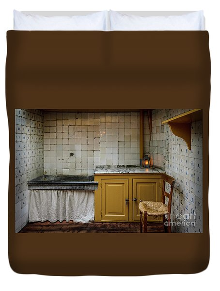 Duvet Cover featuring the photograph 19th Century Kitchen In Amsterdam by RicardMN Photography