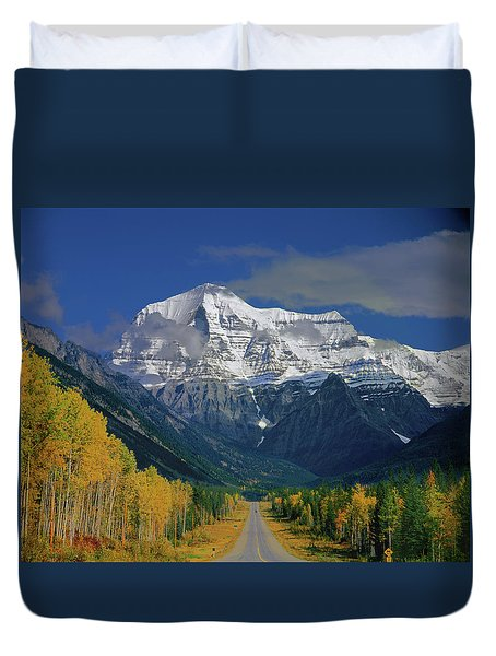 1m2441-h Mt. Robson And Yellowhead Highway H Duvet Cover