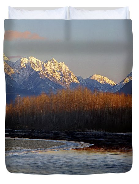 1m4525 Skykomish River And West Central Cascade Mountains Duvet Cover