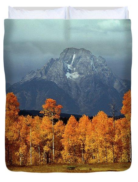 1m9235 Mt. Moran In Autumn Duvet Cover