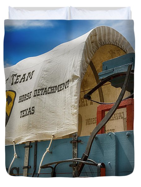 1st Cavalry Division Fort Hood - Horse Detachment Duvet Cover