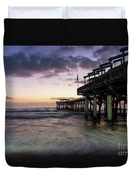1st Dawn Cocoa Pier Duvet Cover by Jennifer White