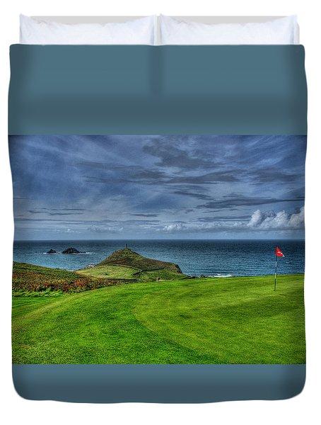1st Green Cape Cornwall Golf Club Duvet Cover