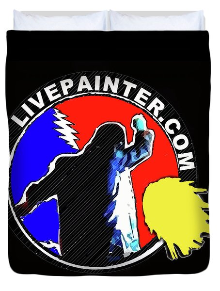 1st Live Painter Logo Duvet Cover