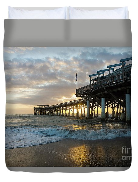 1st Sunrise 2017 Cocoa Beach Duvet Cover