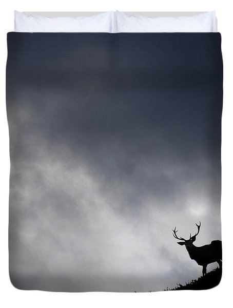 Stag Silhouette Duvet Cover