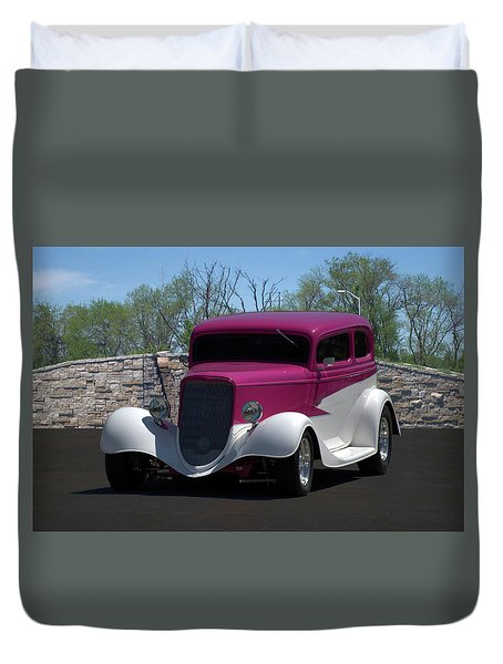 1933 Ford Vicky Duvet Cover