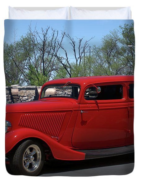 1934 Ford Sedan Hot Rod Duvet Cover