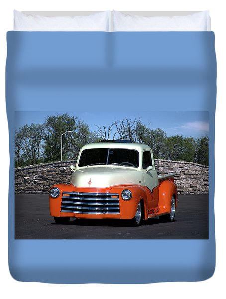 1952 Chevrolet Pickup Truck Duvet Cover
