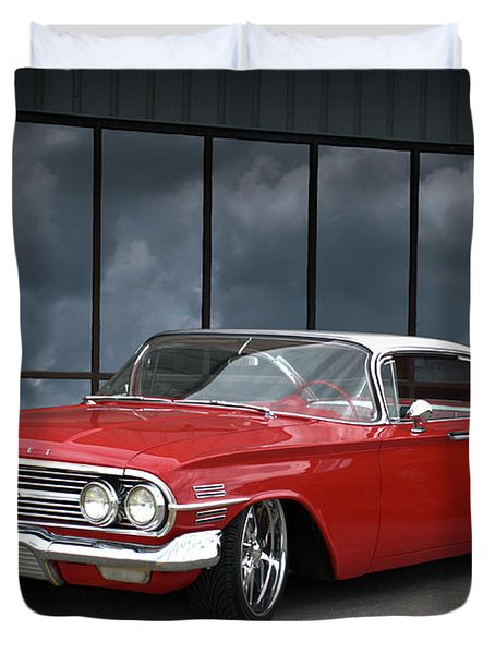 Duvet Cover featuring the photograph 1960 Chevrolet Impala by Tim McCullough