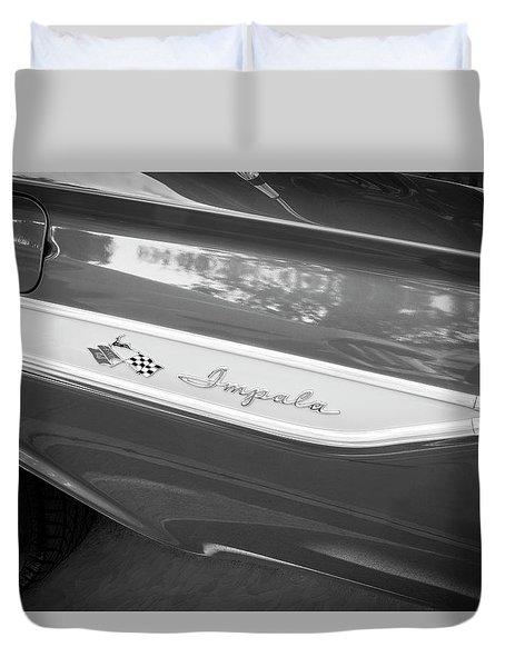 1961 Chevrolet Impala Ss Bw Duvet Cover by Rich Franco
